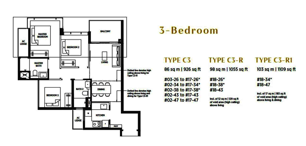 Parc Esta 3 Bedroom Floor Plan