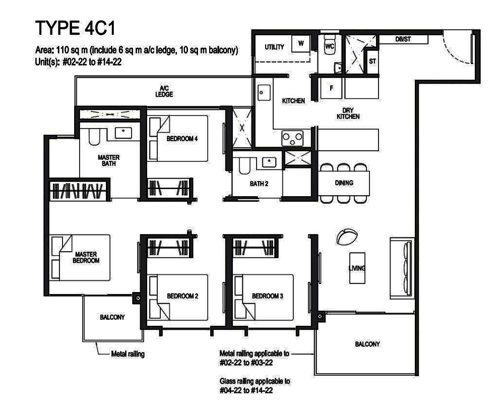 Park Colonial 4 Bedroom Floor Plan