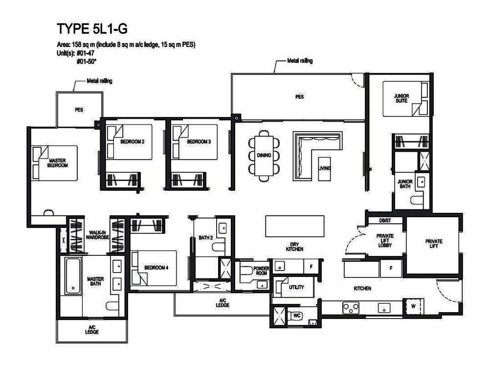 Park Colonial 5 Bedroom Floor Plan