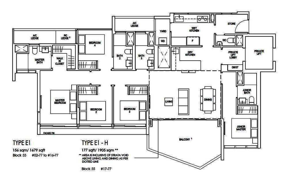 Riverfront Residences 5 Bedroom Floor Plan