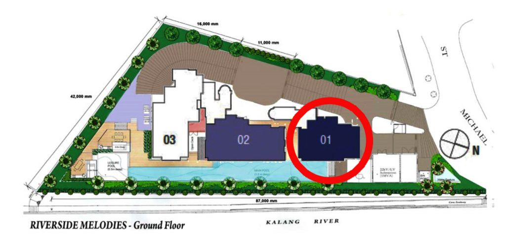 Riverside Melodies 2 Bedroom Penthouse Site Plan