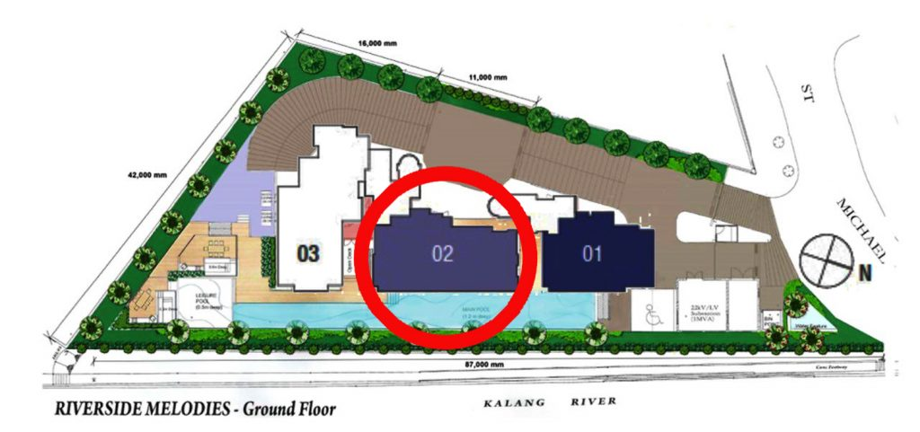 Riverside Melodies 3 Bedroom Site Plan