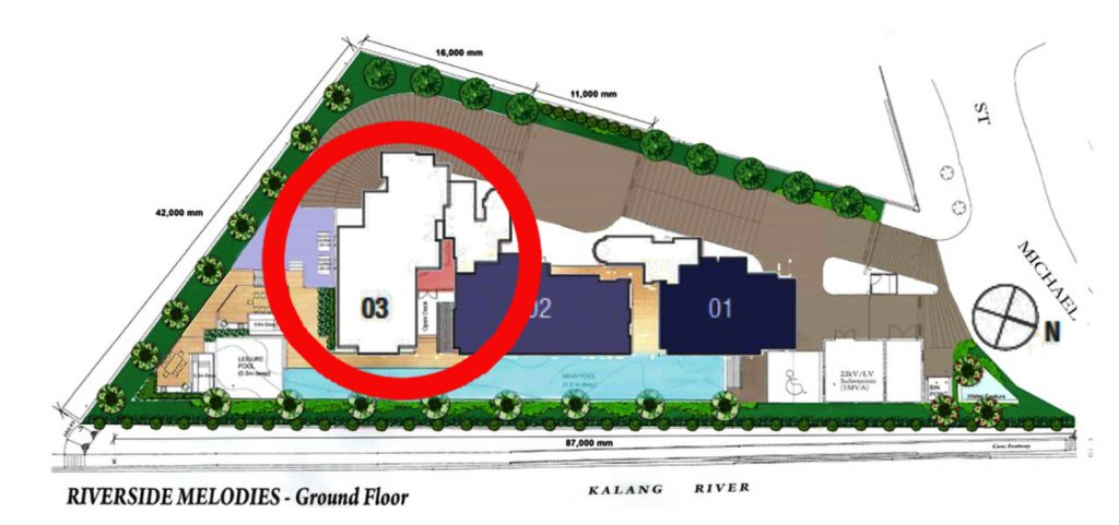 Riverside Melodies 4 Bedroom Penthouse Site Plan