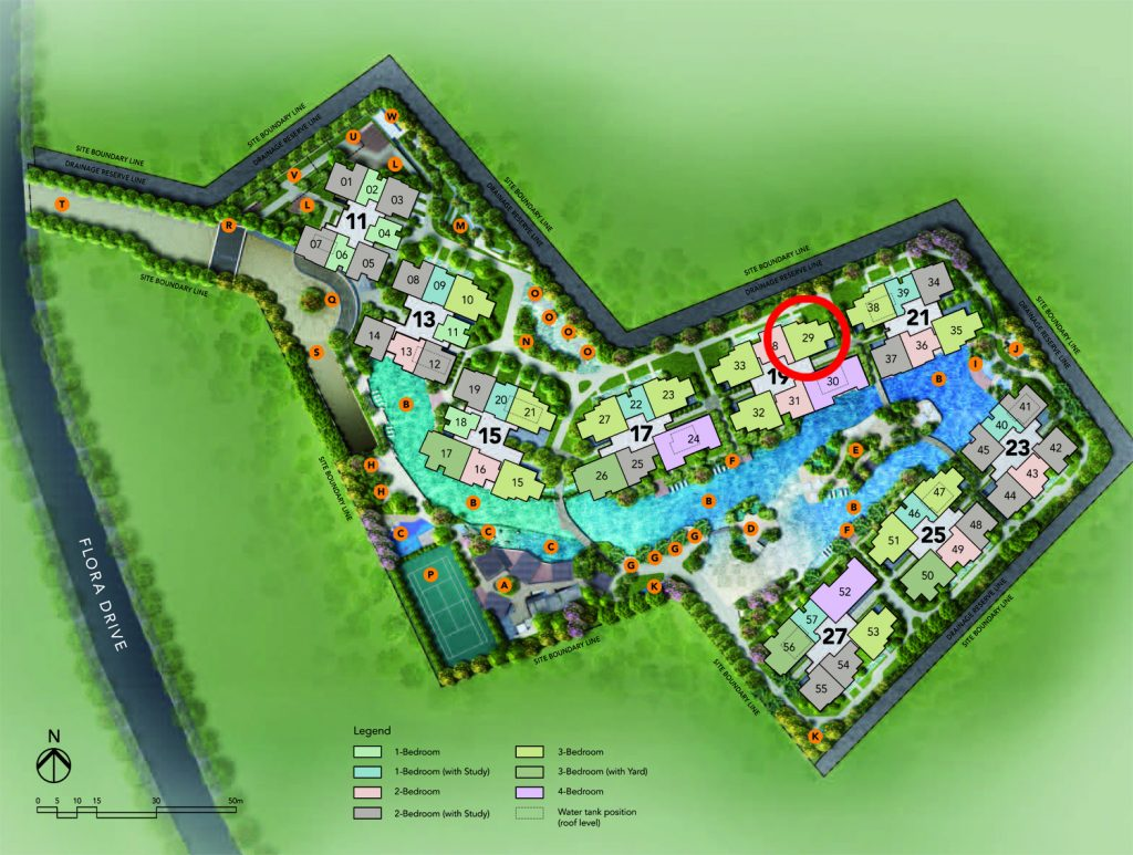 New development singapore  3 bedroom Site Plan