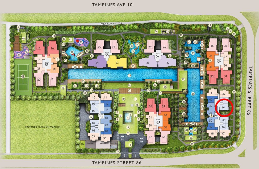 The Tapestry 1 Bedroom Site Plan