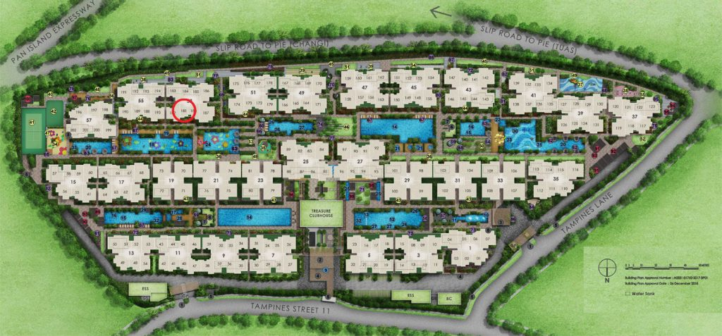 Treasure 1 Bedroom Site Plan