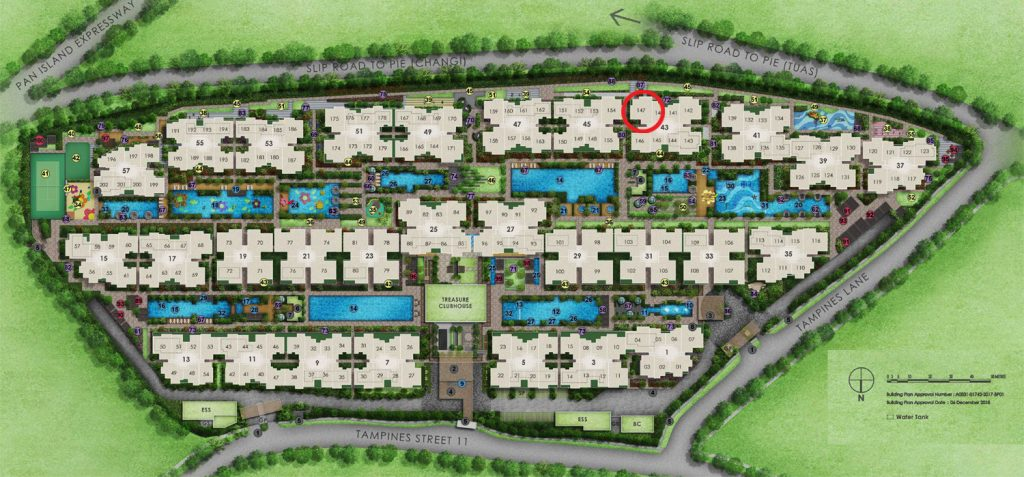 Treasure 4 Bedroom Site Plan