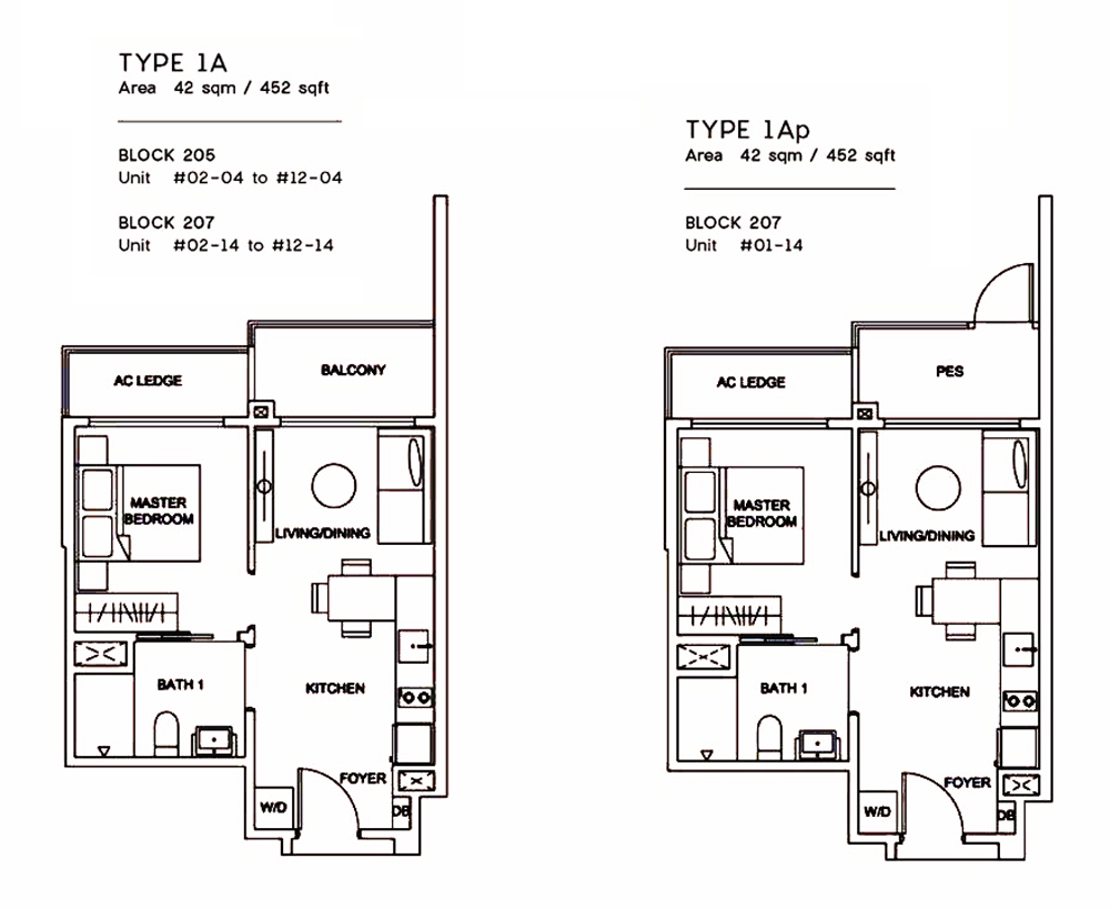 Urban Treasures 1 Bedroom Floor Plan