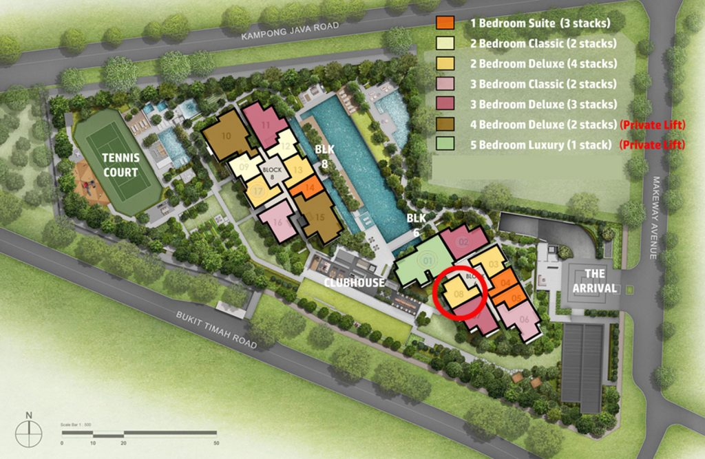 Kopar@Newton 2 Bedroom Deluxe Site Plan