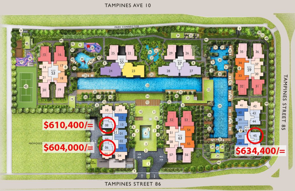 Sg New Launch Condo The Tapestry Cheapest 1 bedroom Site Plan