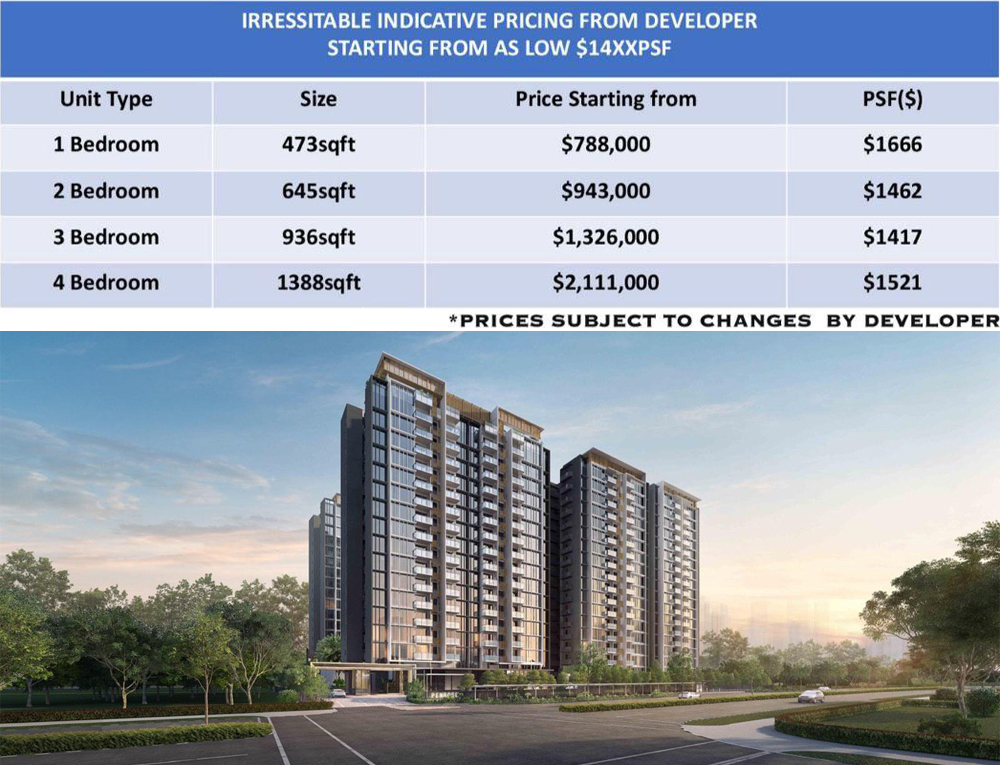 Penrose Condo Price List at Sims Drive