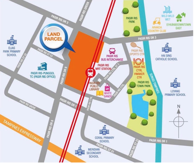 Pasir Ris 8 Location Integrated development Condo
